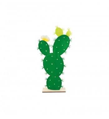 Cactus feutre sur pied bois...