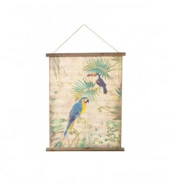 Kakemono perroquet toucan...
